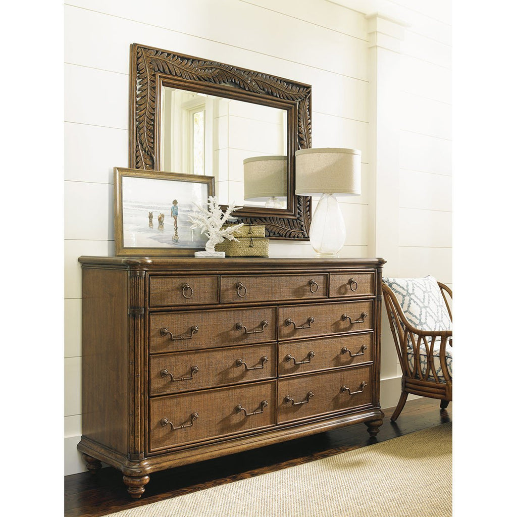 Tommy Bahama Bali Hai Medium Brown Costa Sera Triple Dresser