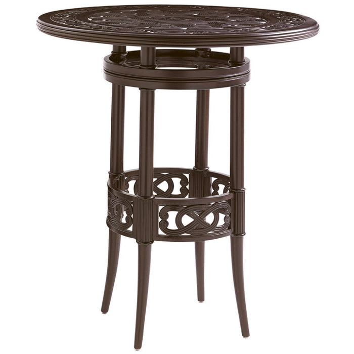 Tommy Bahama Royal Kahala Black Sands Round High/Low Bistro Bar Table