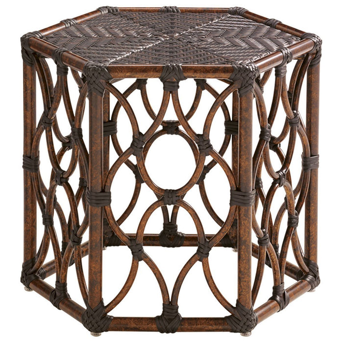 Tommy Bahama Royal Kahala Black Sands Hexagonal Cocktail Table