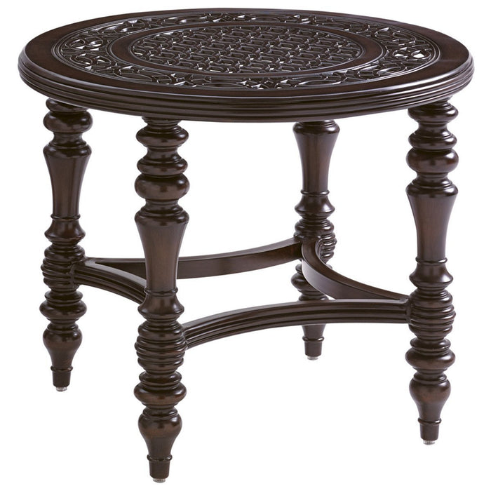 Tommy Bahama Royal Kahala Black Sands Round End Table