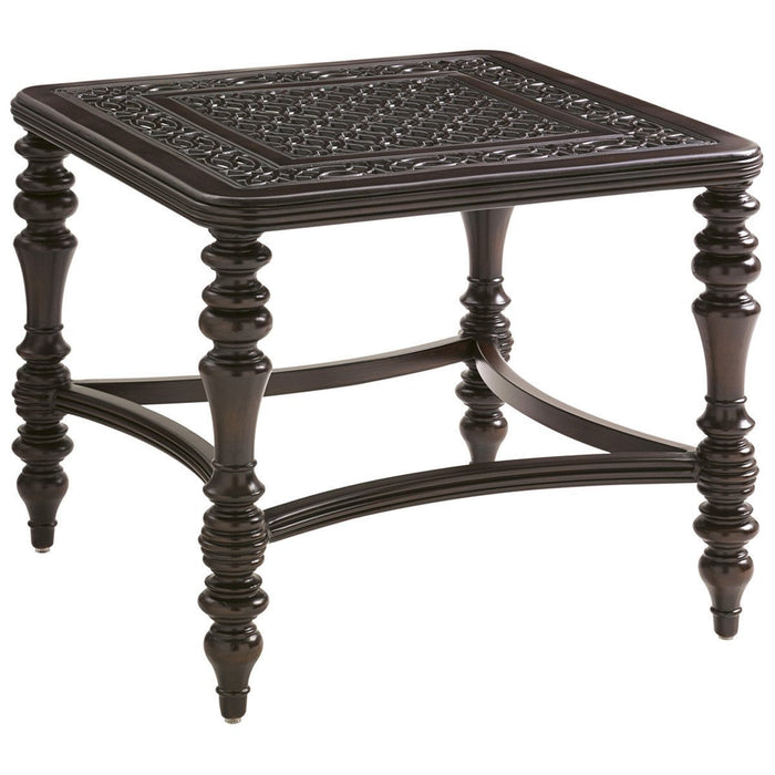 Tommy Bahama Royal Kahala Black Sands Square End Table