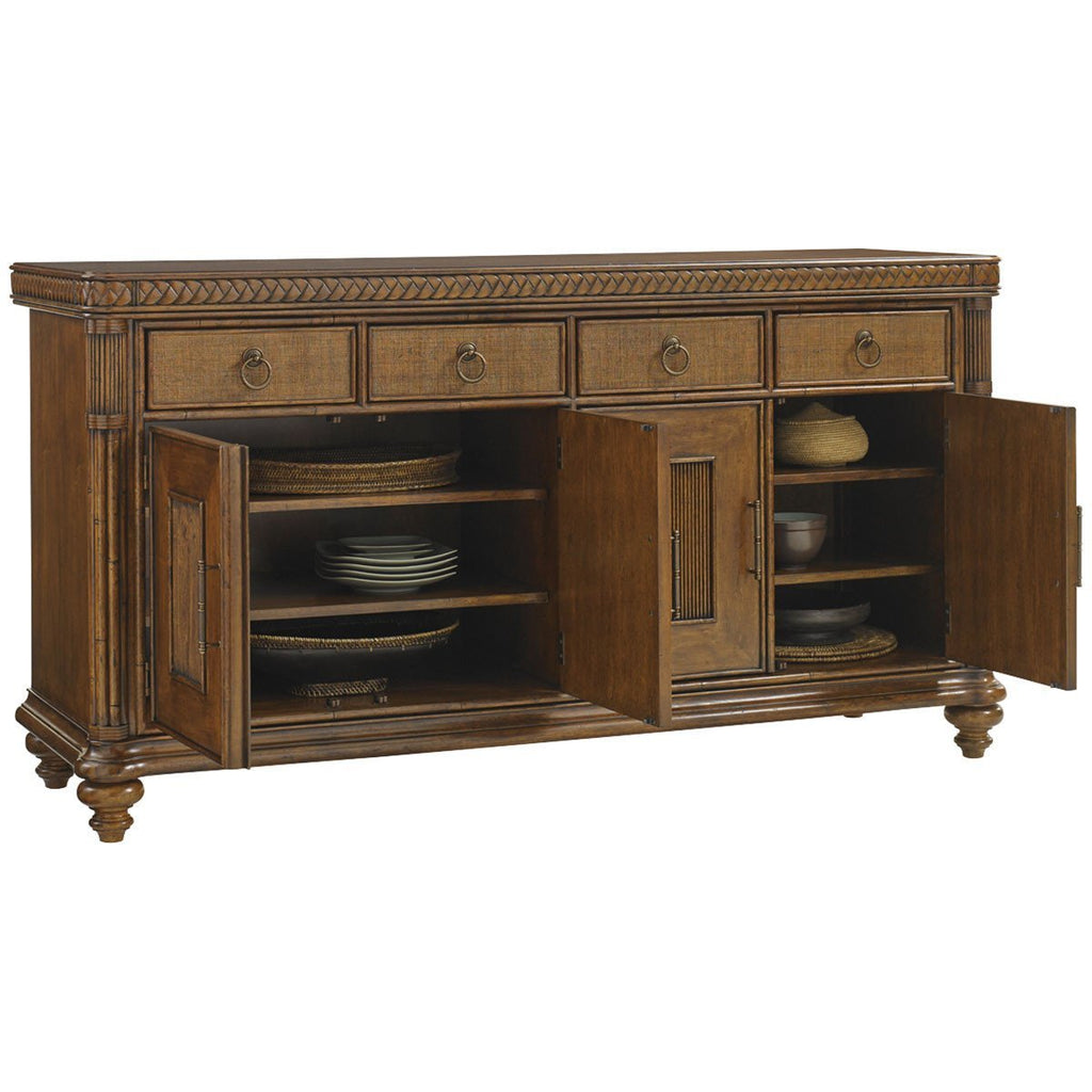 Tommy Bahama Bali Hai Medium Brown Trident Buffet