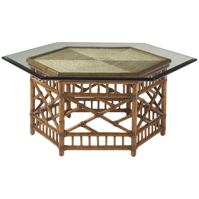 Tommy Bahama Island Estate Key Largo Cocktail Table with Glass Top