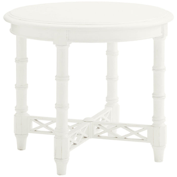 Tommy Bahama Ivory Key Edgehill Round Lamp Table 543-950