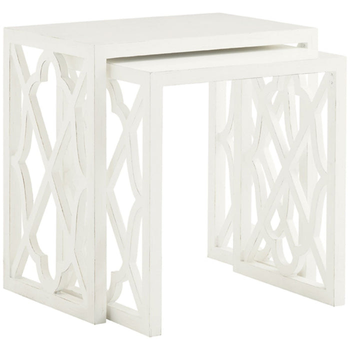 Tommy Bahama Ivory Key Set of 2 Stovell Ferry Nesting Tables 543-957