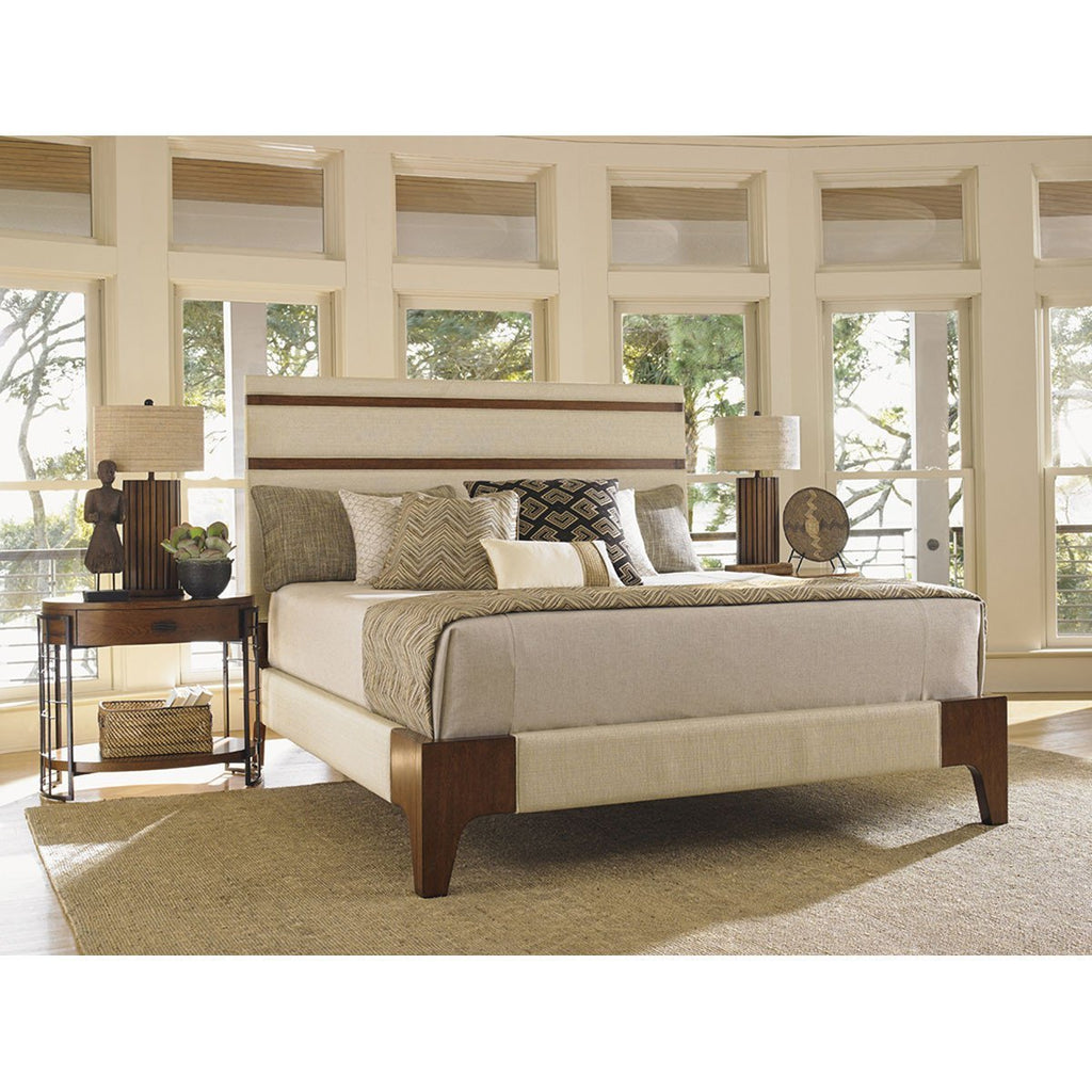 Tommy Bahama Island Fusion Mandarin Upholstered Panel Bed