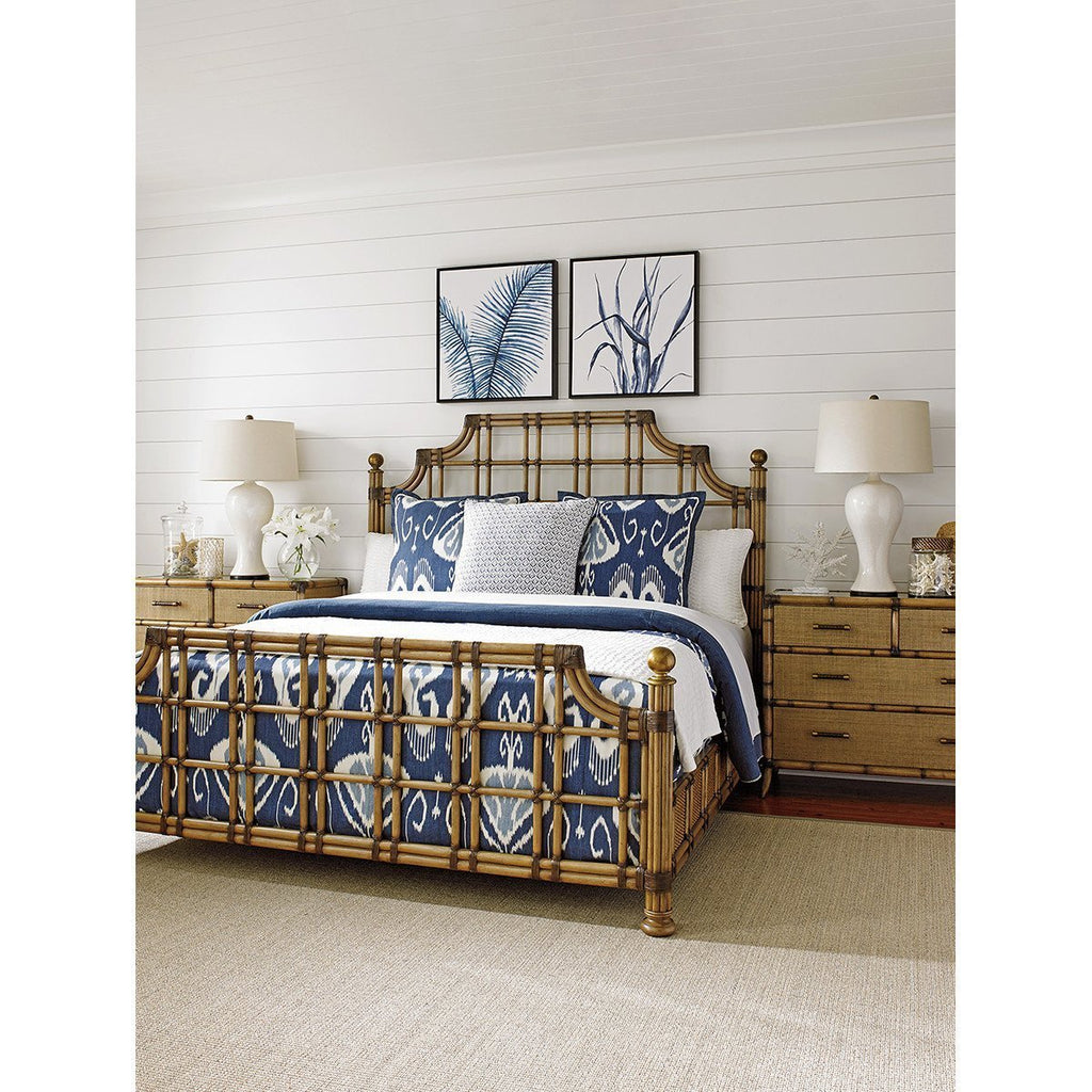 Tommy Bahama Twin Palms St. Kitts Rattan Bed