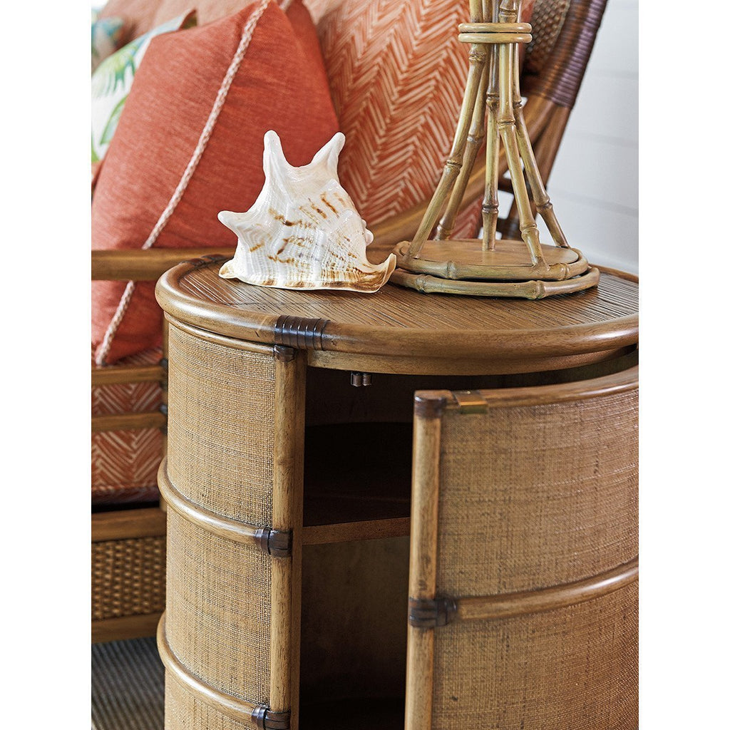 Tommy Bahama Twin Palms Cassada Drum Table