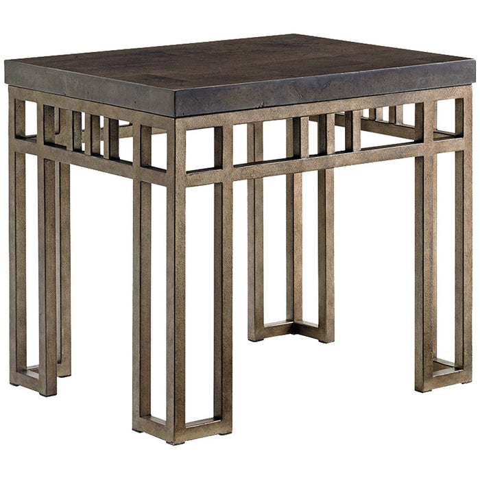 Tommy Bahama Cypress Point Montera Travertine End Table