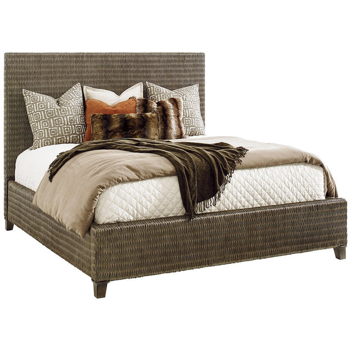 Tommy Bahama Cypress Point Driftwood Isle Woven Platform Bed