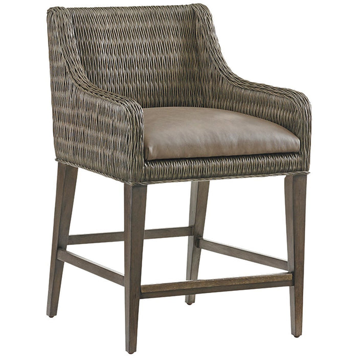Tommy Bahama Cypress Point Turner Woven Counter Stool