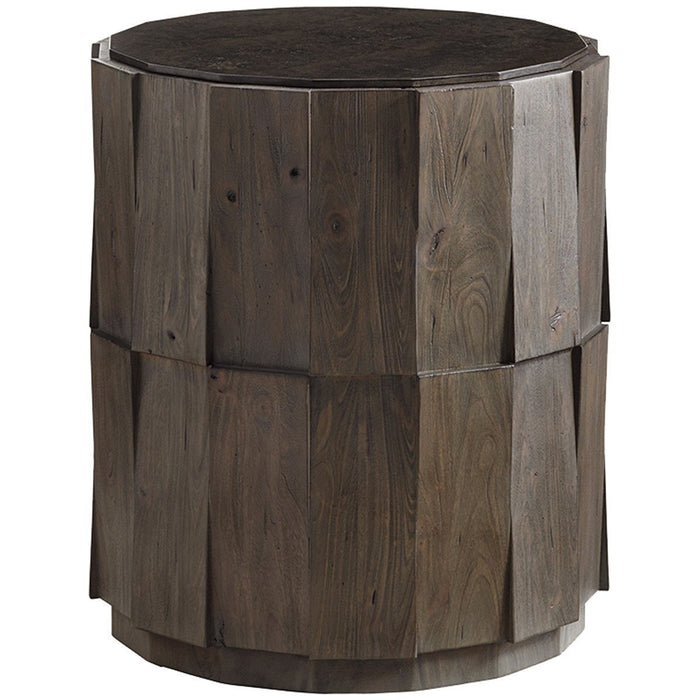 Tommy Bahama Cypress Point Everett Round Travertine End Table
