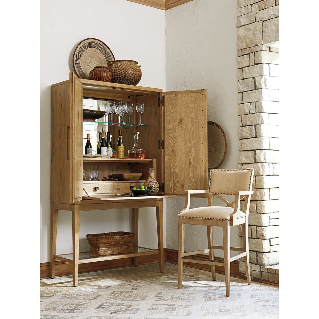 Tommy Bahama Los Altos Cameroon Bar Cabinet