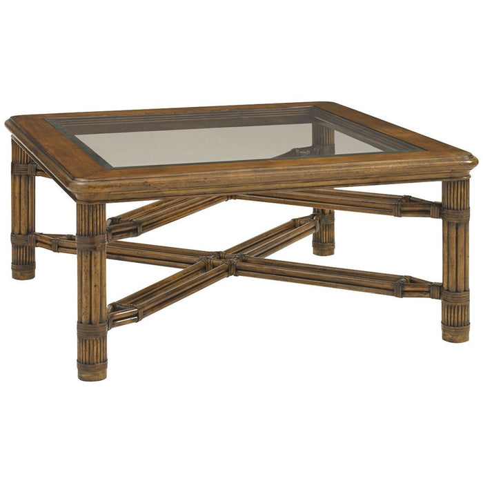 Tommy Bahama Bali Hai Medium Brown Capri Square Cocktail Table