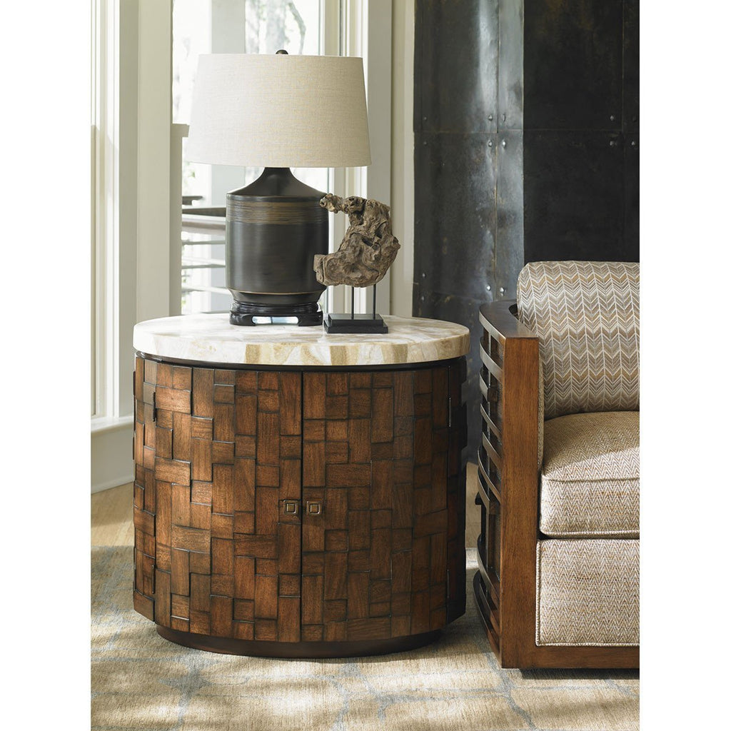 Tommy Bahama Island Fusion Banyan Oval Accent Table