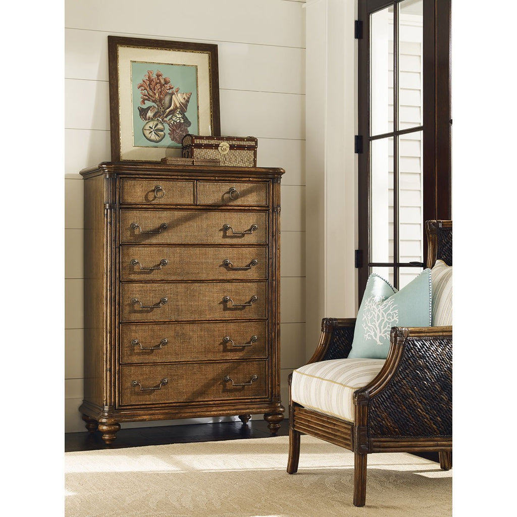 Tommy Bahama Bali Hai Medium Brown Tobago Drawer Chest