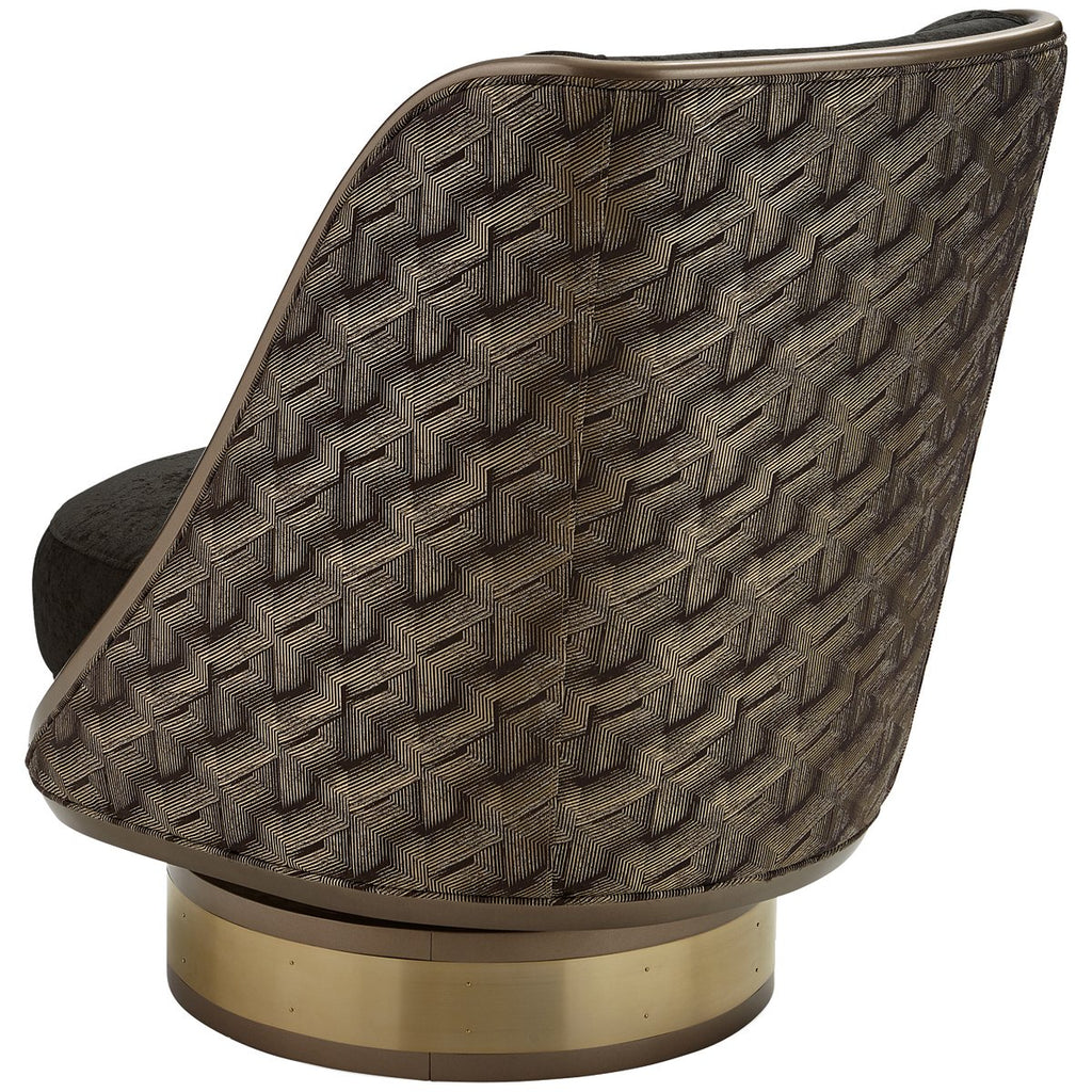 Caracole Upholstery Go For A Spin Swivel Chair