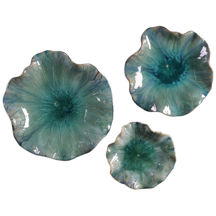 Uttermost Abella Ceramic Flowers, Set of 3