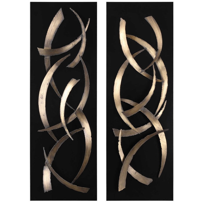Uttermost Brushstrokes Metal Wall Art, Set of 2