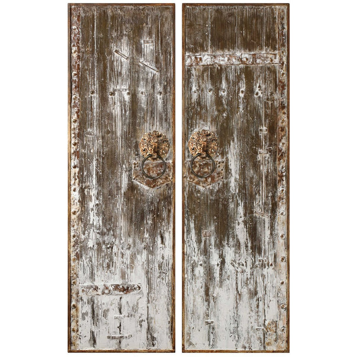 Uttermost Giles Aged Wood Wall Art, Set of 2