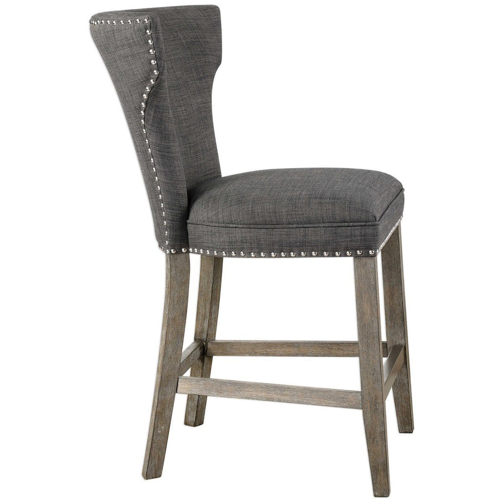 Uttermost Arnaud Charcoal Counter Stool Stools Benjamin Rugs