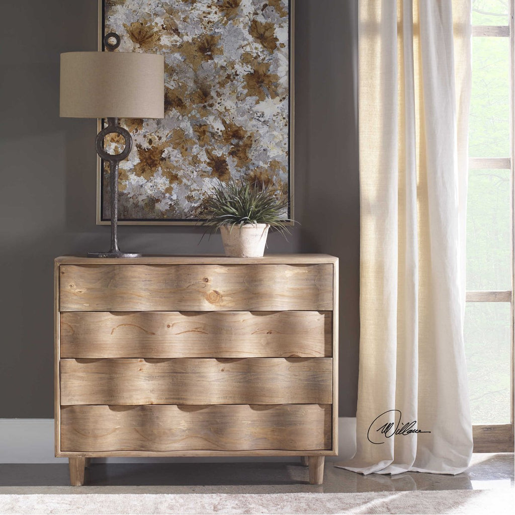 Uttermost Crawford-Light Oak Accent Chest