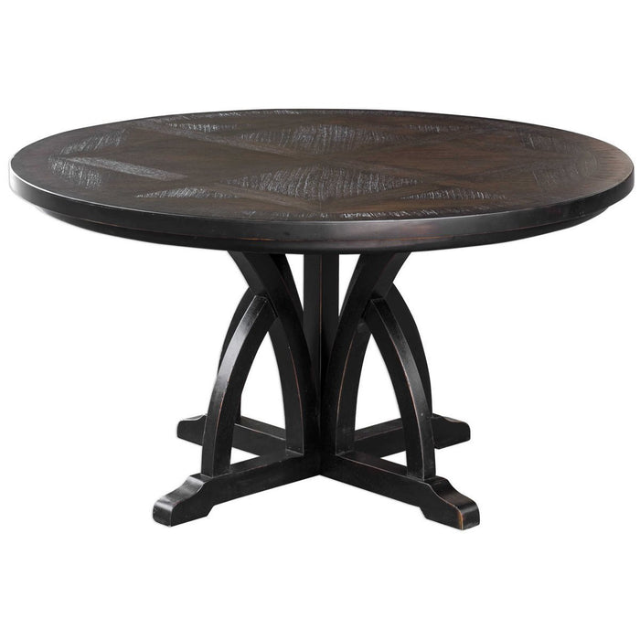Uttermost Maiva Round Black Dining Table