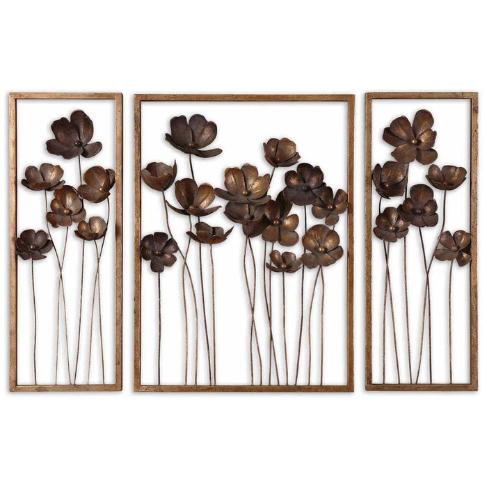 Uttermost Metal Tulips Wall Art Set of 3 12785