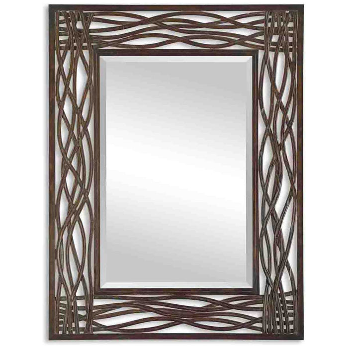 Uttermost Dorigrass Brown Metal Mirror 13707