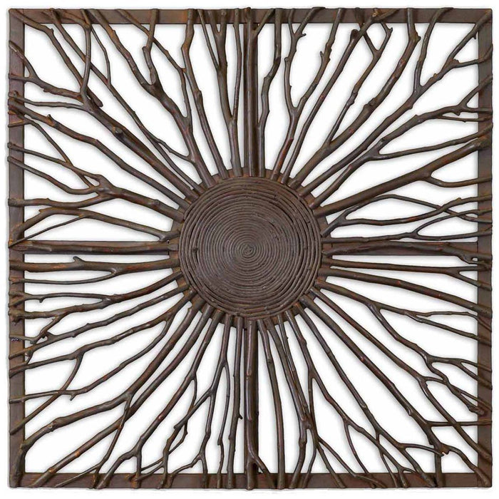 Uttermost Josiah Square Wooden Wall Art 13777