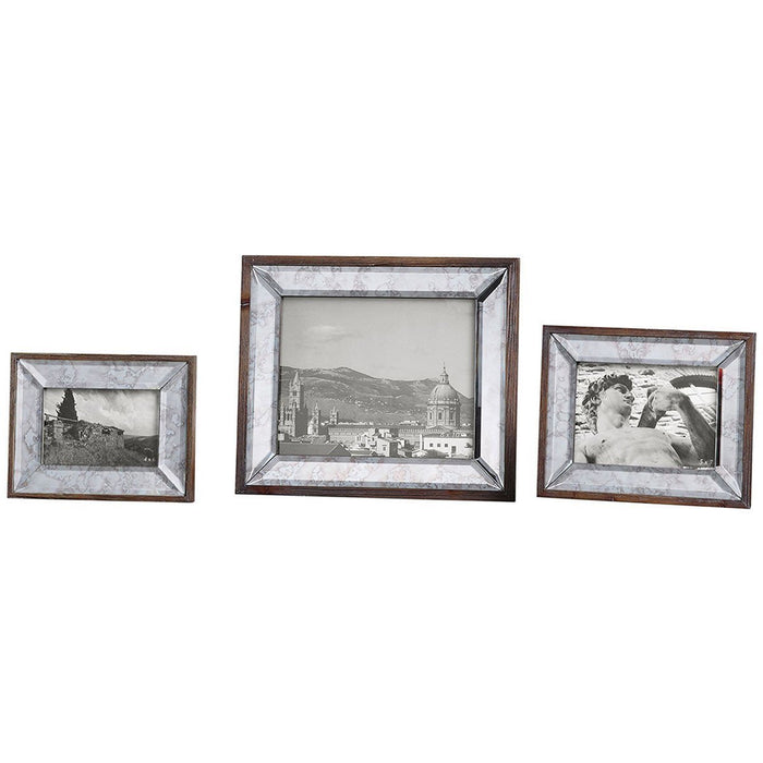 Uttermost Daria Antique Mirror Photo Frames Set of 3 18567