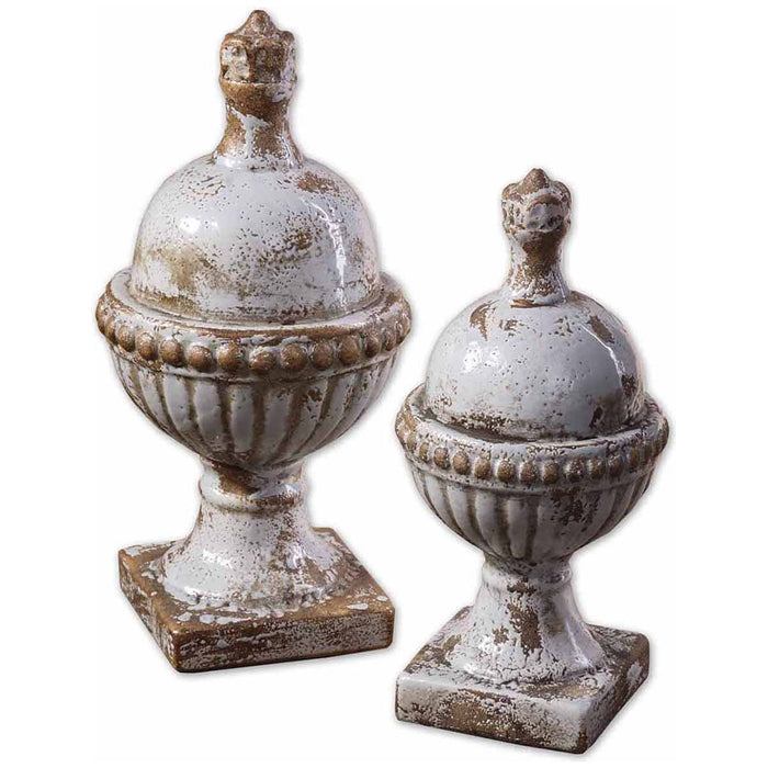 Uttermost Sini Ceramic Finials, Set of 2 19231
