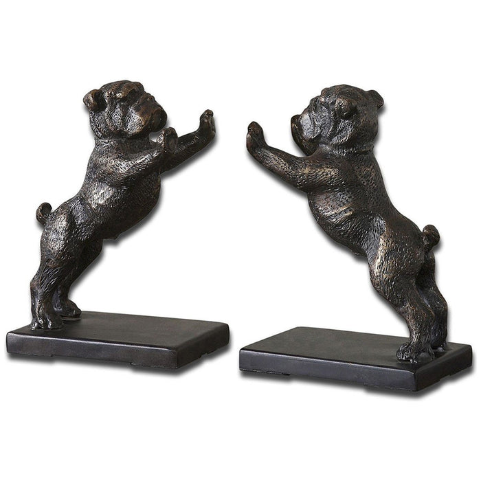 Uttermost Bulldogs Cast Iron Bookends, Set of 2 19643