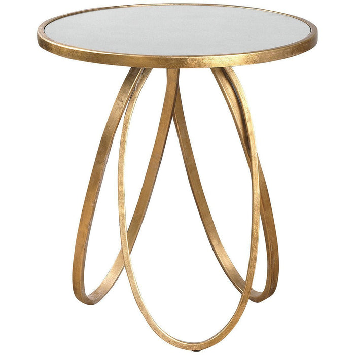Uttermost Montrez Gold Accent Table
