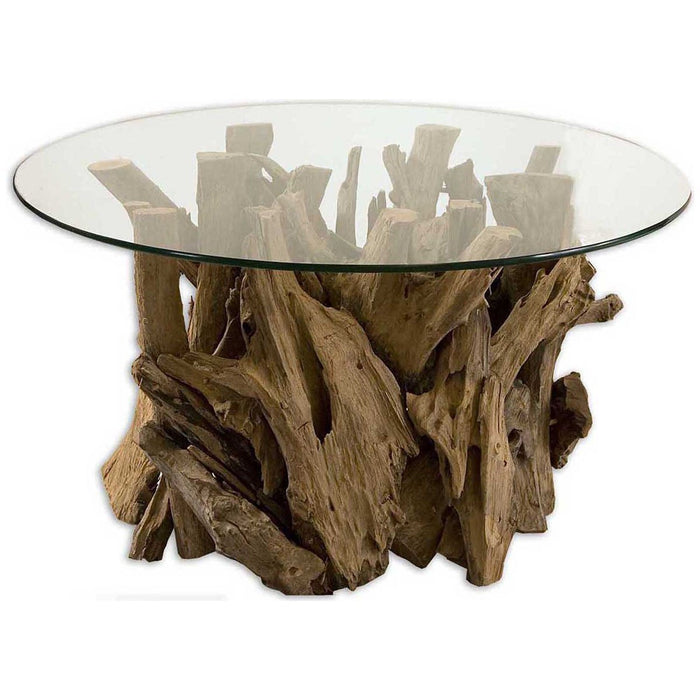 Uttermost Driftwood Glass Top Cocktail Table 25519