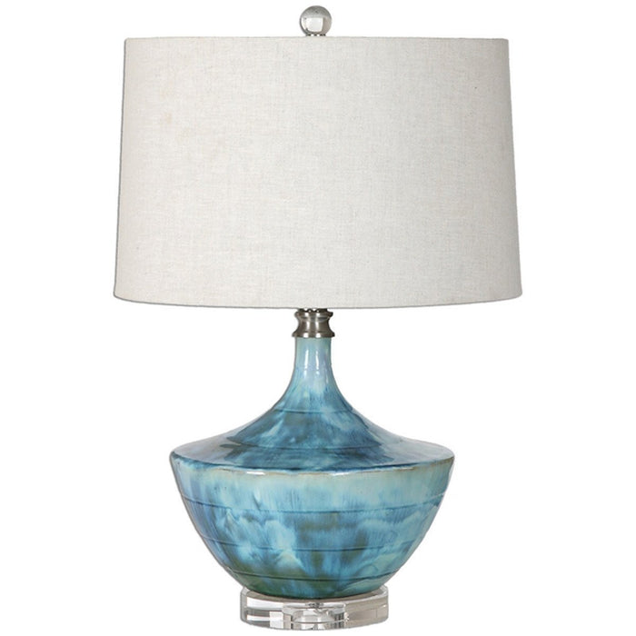 Uttermost Chasida Blue Glaze Table Lamp