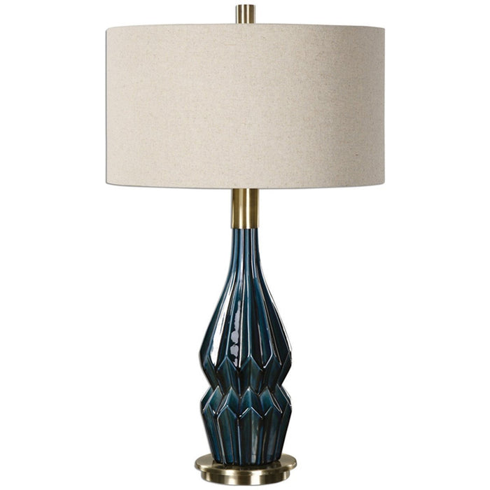 Uttermost Prussian Blue Glaze Table Lamp