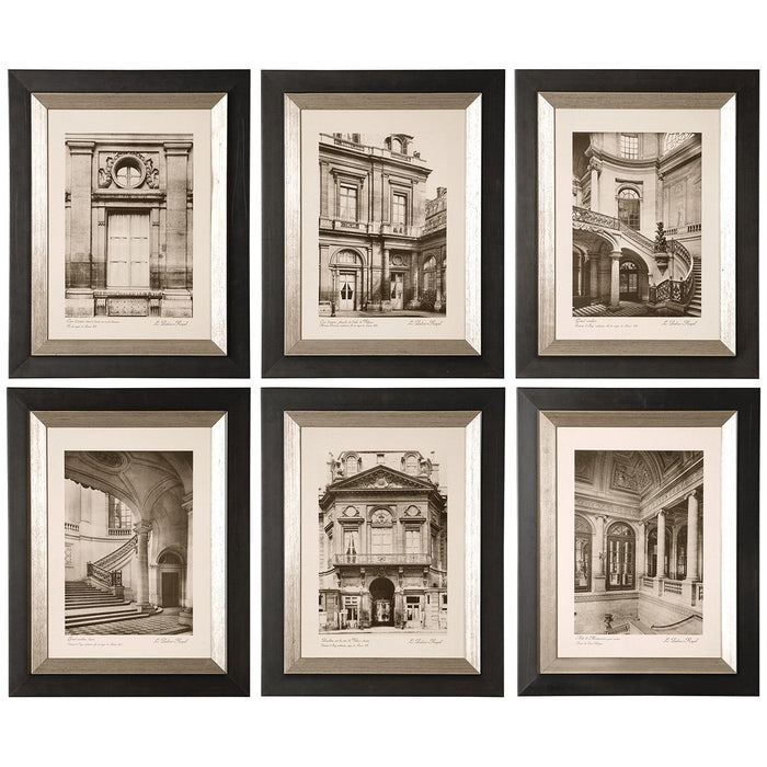 Uttermost Paris Scene Framed Art Set of 6 33430