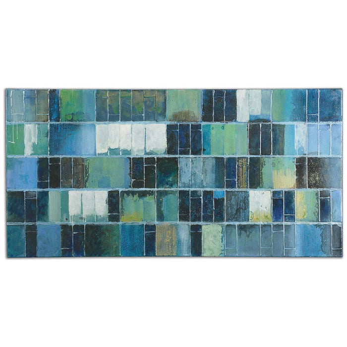 Uttermost Glass Tiles Modern Art 34300
