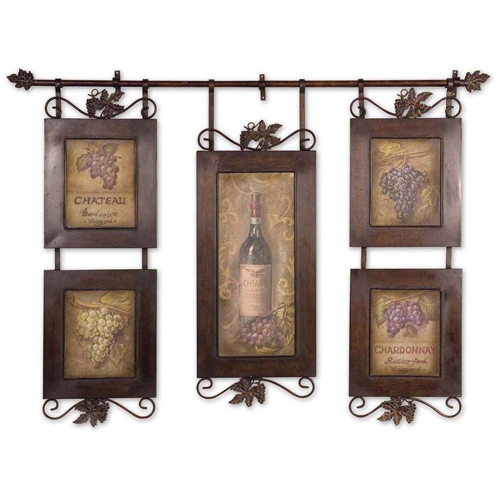 Uttermost Hanging Wine Framed Art 50791