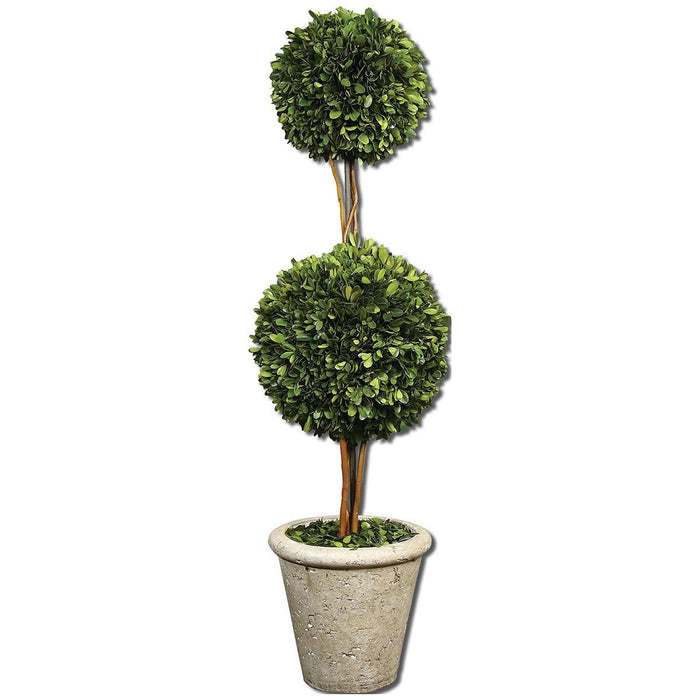 Uttermost Two Sphere Topiary Preserved Boxwood 60106
