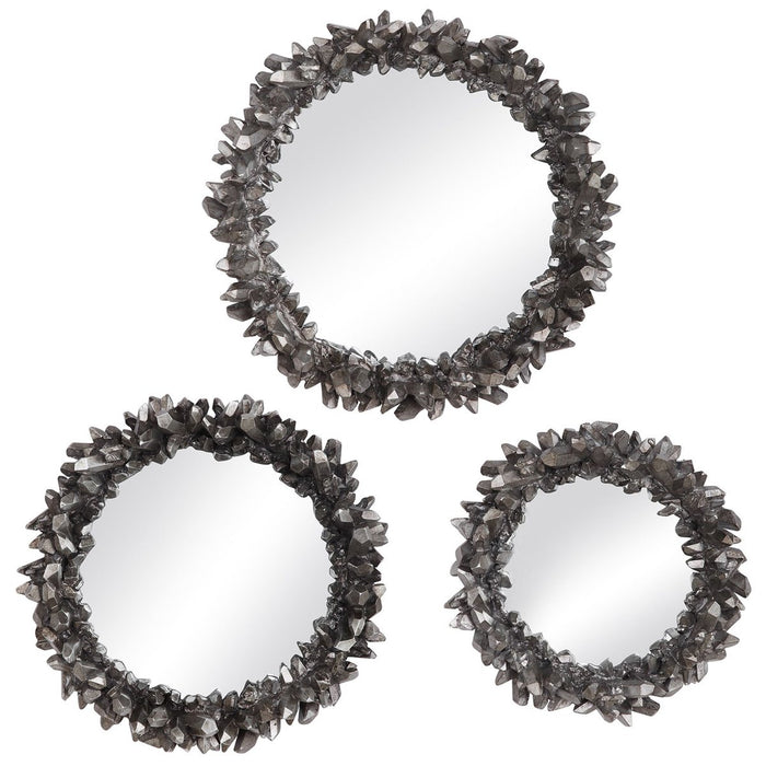Uttermost Galena Round Mirrors, 3-Piece Set