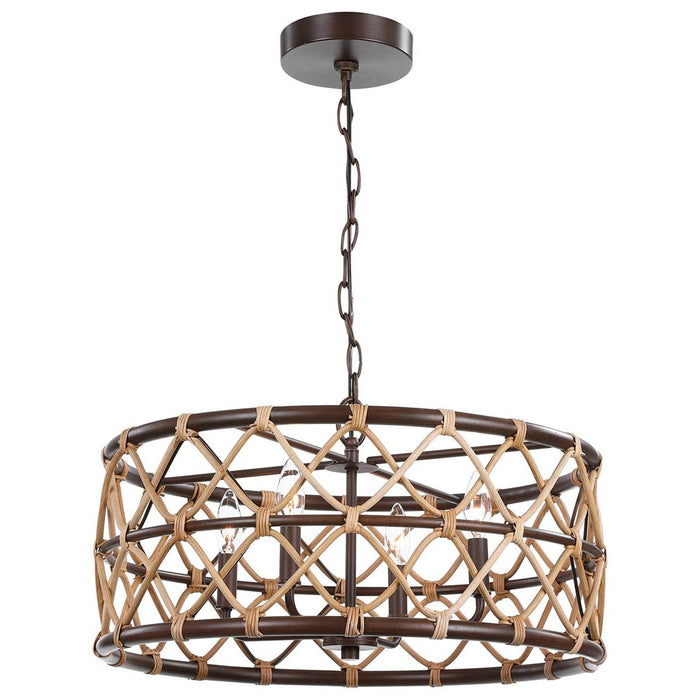 Uttermost Hilo 4-Light Drum Pendant