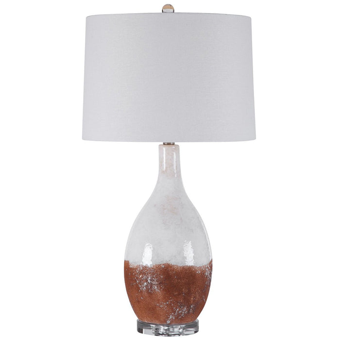 Uttermost Durango Rust White Table Lamp