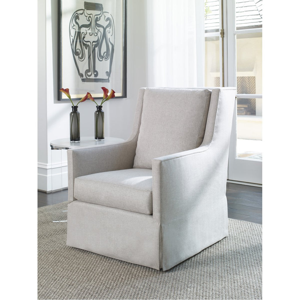 Vanguard Furniture Norton Waterfall Skirt Swivel Chair