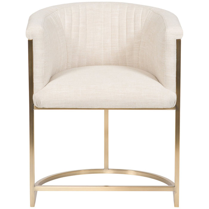 Vanguard Furniture Skye Channel Back Metal Frame Chair