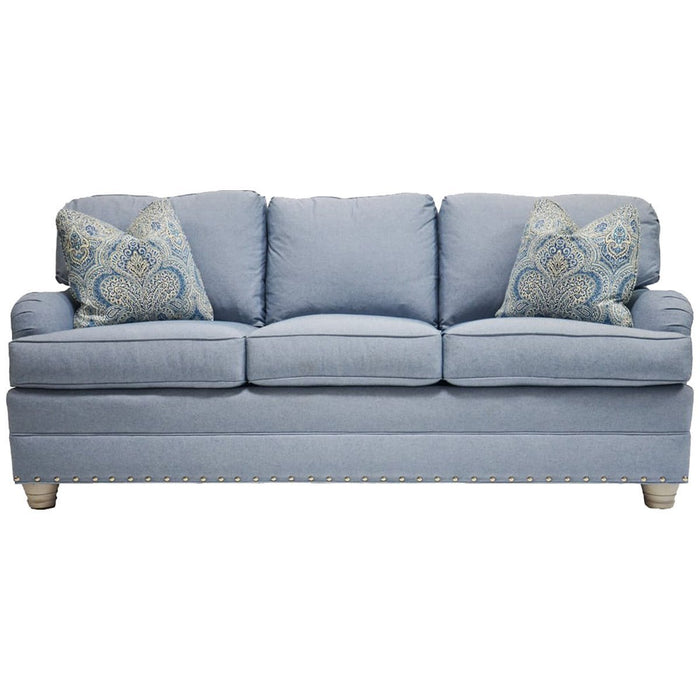 Vanguard Furniture East Lake Theory Blue Three Cushions Sleep Sofa