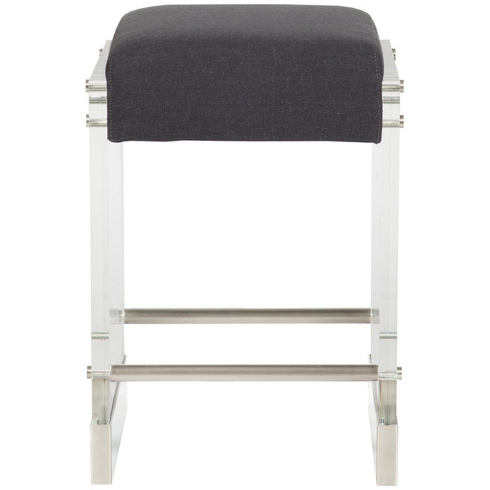 Vanguard Furniture Jake Charcoal Thayer Metal Base Counter Stool