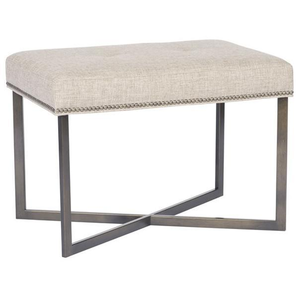 Vanguard Furniture Natures Linen Jersey Metal Frame Ottoman