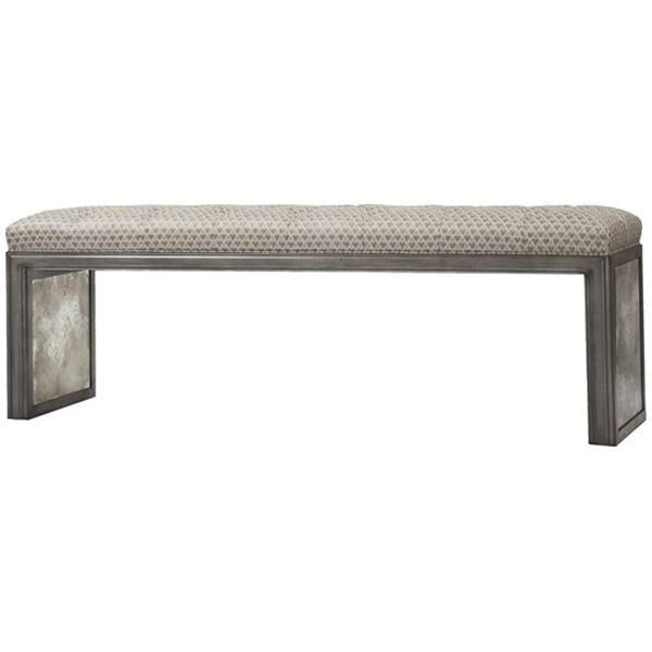 Vanguard Furniture Lopez Platinum Blair Tufted Mirror Bench